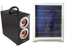 Solar Power Radio Boombox with Subwoofer, Portable Boombox with Solar Panel, GLD