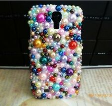 3D Mixed Colour Pearl Crystal Bling Case Cover For Samsung Galaxy Note 4 NEW */6