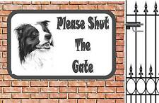 Border Collie  Shut The Gate Beware of the Dog  Design Metal Door Sign