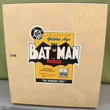 HALLMARK Golden Age BATMAN & ROBIN STATUES 1950's Dynamic Duo L ED MINT NRFB NEW