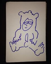 LEIGH FRANCIS (KEITH LEMON) - 6x4  SIZE SKETCH (THE BEAR ) TV AUTOGRAPH