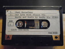 VERY RARE Buddy Mix DEMO CASSETTE TAPE 2 UNRELEASED pop rock Just Ourselves 1985