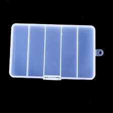 5Compartments Multifunction Fishing Lure Bait Tackle Waterproof Storage Box Case
