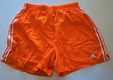 SUPER RARE VINTAGE Adidas Satin Soccer Shorts GREAT CONDITION ORANGE XL