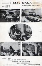 CPA 66 PERPIGNAN Hotel SALA Café Bar Salon de Lecture Restaurant (COMMERCE CAFE