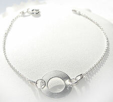 Celebrity Layered Style Double Circle Bracelet. Sterling Silver. Stamped 925!