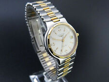LONGINES Conquest Date Women's Quartz Watch 18K Gold Plated & SS [650]