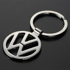 NEW 3D VOLKSWAGEN CHROME METAL CAR KEYRING KEYCAHIN KEYFOB WITH VW LOGO - UK