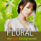 FLORAL Digital Backgrounds Studio Photography Backdrops Muslin Chromakey
