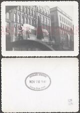 Vintage 1941 Photo Unusual Car Window View of Dept Store Christmas Decor 661861