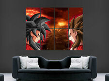 Cartel De Goku Vs. Vegeta Super Saiyan de Dragon Ball Z Art Print Manga Comic Gigante