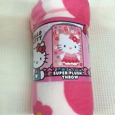 Hello Kitty PLUSH soft blanket throw design NEW microfiber super SOFT