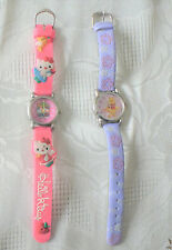 2 Lot Girls' Watches  Purple Disney Winnie The Pooh and Pink Hello Kitty