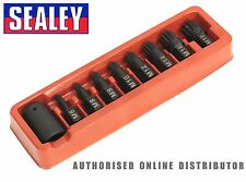 "Sealey - AK5611 Impact Socket Spline Bit / Holder Set 9pc- M6-M18 - 1/2""Sq Drive"