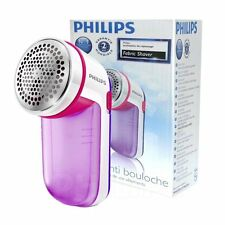 Philips Electric Fabric Shaver Fuzz Lint Remover Remove Clothes Pills - Pink