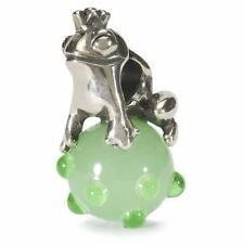 Trollbeads 925 Silber Bead Froschkönig TAGBE-00012 The Frog Prince World Tour