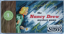 The NANCY DREW Mystery Board Game Parker Brothers 1959 Christmas Gift RED Board