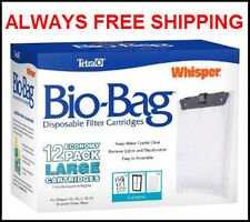 TETRA LARGE BIO BAGS FOR WHISPER POWER FILTERS. FITS 20,30,40 & 60 FILTERS 12PK
