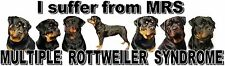 """""""I Suffer from  MULTIPLE  ROTTWEILER  SYNDROME"""" Dog Car Sticker by Starprint"""