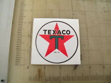 "Vintage Texaco Gasoline sticker 3"" diameter"