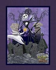 PURPLE Disney Tim Burton Nightmare Before Christmas Jack Large Fabric Panel Cott