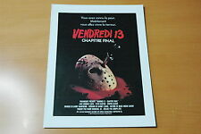 BETSY PALMER  ADRIENNE KING FRIDAY THE 13TH 1980 RARE SYNOPSIS