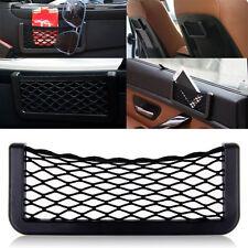 Portable Universal Black Car Seat Side Back Net Bag Storage Mesh Holder Pocket