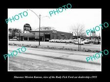 OLD LARGE HISTORIC PHOTO OF SHAWNEE MISSION KANSAS, THE RUDY FICK FORD c1955