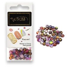 PURPLE Opal Round Gem Beads Nail Art Rhinestones Decoration 6.0mm 50pcs