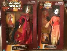 Padme Queen Amidala Figures Dolls 1998 release Hasbro Star Wars lot of 2 NIB