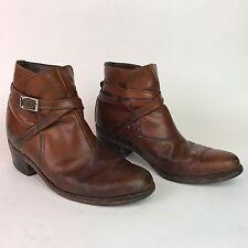 Vintage Florsheim Leather Ankle Boots Men's 10 1/2 E Hipster Strap Rare Beatles