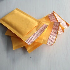 10Pcs 90*130+40mm Kraft Bubble Bag Padded Envelopes Mailers Shipping Yellow