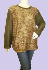 HONEY-GOLD Colour Block Long Sleeve Jumper FREE SIZE Fits 16-18-20-22 NEW