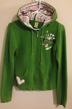 Billabong Women Youth Medium Hoodie Zip Front Green