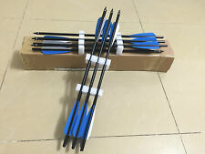 "12PK 18 inch aluminum alloy crossbow arrows for archery hunting 4"" fletching"