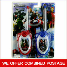 MARVEL HERO THE AVENGERS ELECTRONIC WALKIE TALKIE PLAY SET KID CHILDREN TOY GIFT