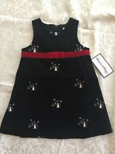 NEW HARTSTRINGS Sz 24 Mo Christmas Holiday Snowman Corduroy Jumper Dress NWT