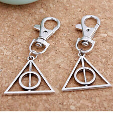 1PC Harry Potter Silver Plated Key Chain Ring Charms Keychain Women Men Keyring