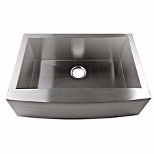 "30"" Stainless Steel FarmHouse Kitchen Sink 16 Gauge Front Apron"