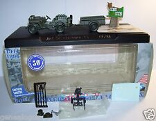 SOLIDO 50 th MILITAIRE MILITARY JEEP SAS + REMORQUE US 44/94 LIBERATION FRANCE