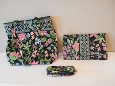 VERA BRADLEY Retired BOTANICA 3 Piece Lot SHOPPER TOTE - CD CASE & EYEGLASS CASE