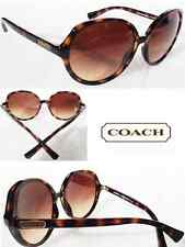 NEW* Coach Sunglasses TORTOISE Round with White CASE  MSRP $299.99 SAVE 50%