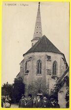 cpa 47 - BRUCH (Lot et Garonne) L' ÉGLISE du VILLAGE Sortie de la Messe