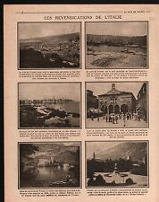 WWI Panorama Port Triestre/Parenzo San-Nicolo/Forum Pola Italy 1915 ILLUSTRATION
