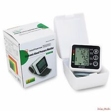 Portable Sphygmomanometer Meter Wrist Blood Pressure Monitor Pulse Health Care