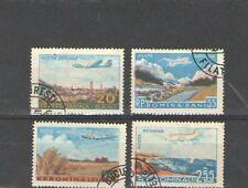 Q5572 - ROMANIA 1956 - SERIE COMPLETA AEREA USATA - MUSICA - VEDI FOTO