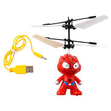 RC Spider Man Aircraft Flying Minion Helicopter Plane Toy Induction Boy