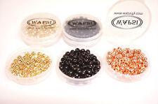 Tungsten Perlen 4,7mm WAPSI USA gold/schwarz/kupfer je 10 St. = 30 Perlen 11€