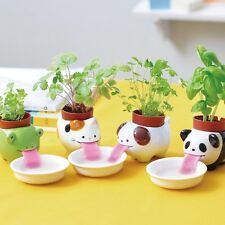 Kawaii Ceramic Cultivation Peropon Drinking Animal Tougue Self Watering Planter