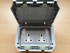 IP66 Storm Proof Waterproof Socket 2 Gang Socket Great Quality!